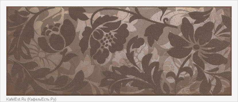 плитка Touch Brown Inserto Flower