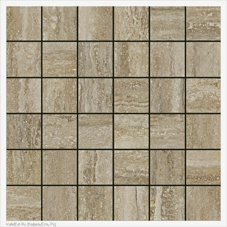 плитка Travertino Floor Mosaico Silver